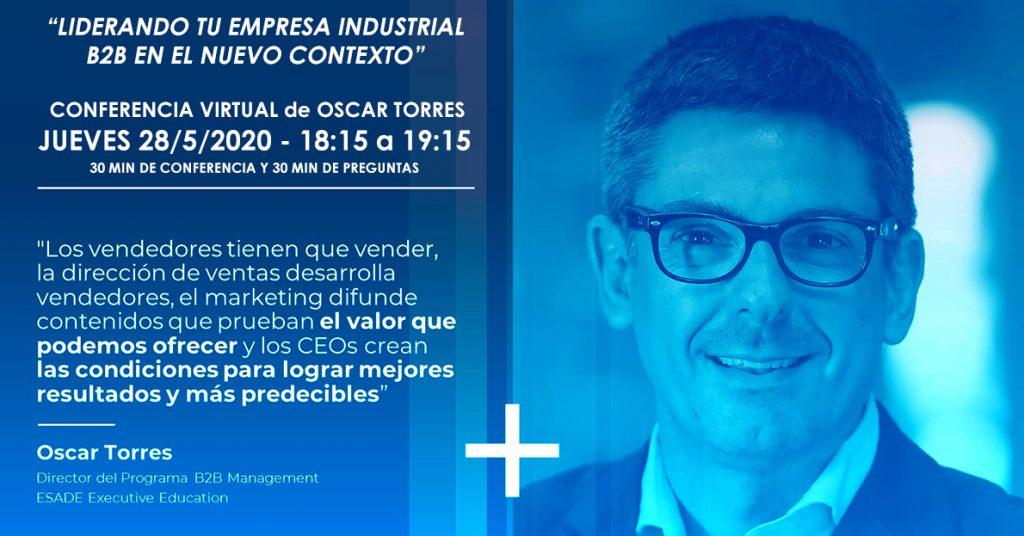 Conferencia Virtual de Óscar Torres